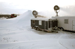 Snowmaking for cold weather vehicle and equipment testing & Fire control