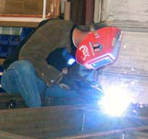 Welding a pump station